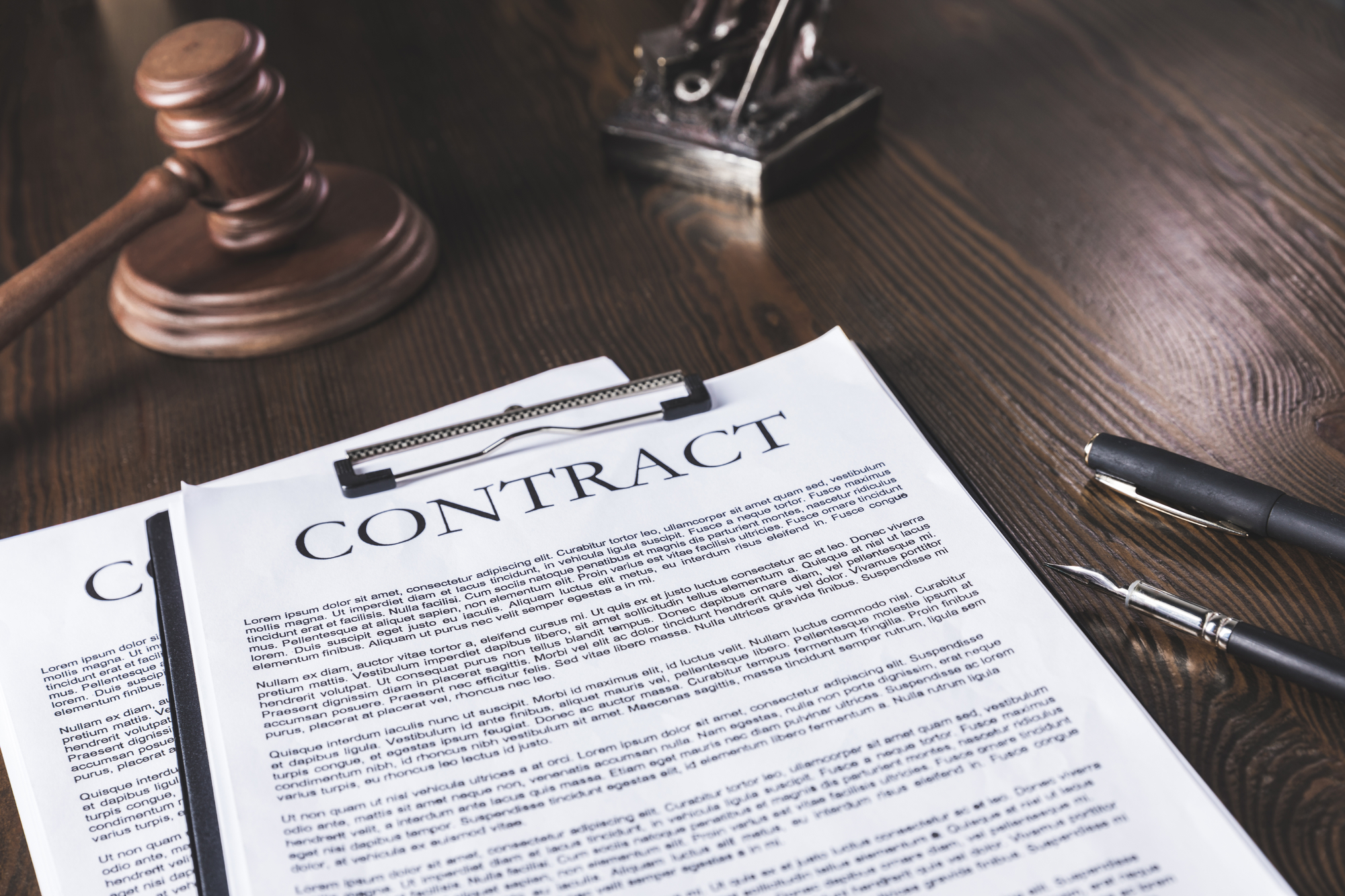 Two contracts on the judge's table