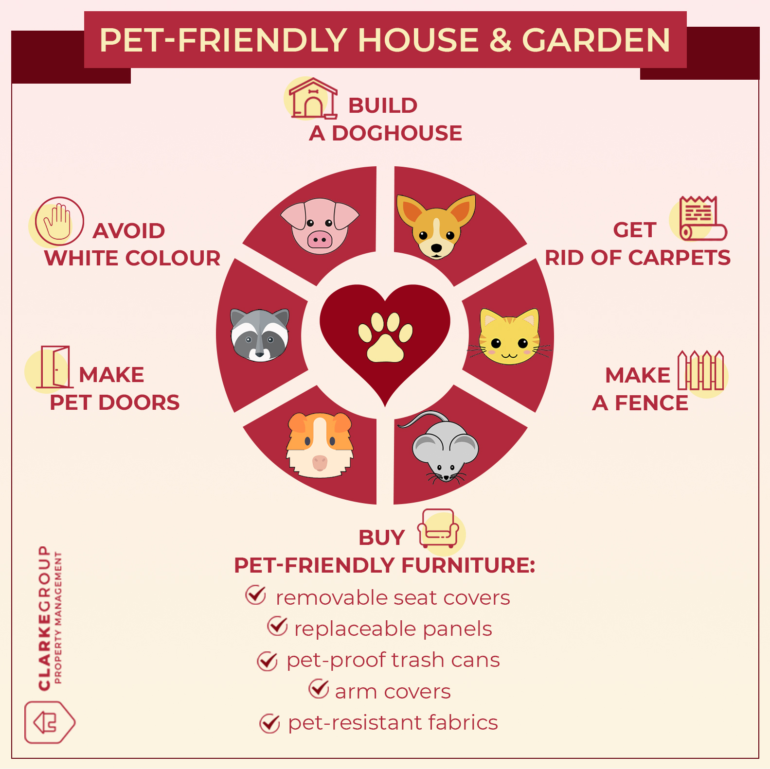Infographic enlisting tips for pet-friendly Auckland landlords